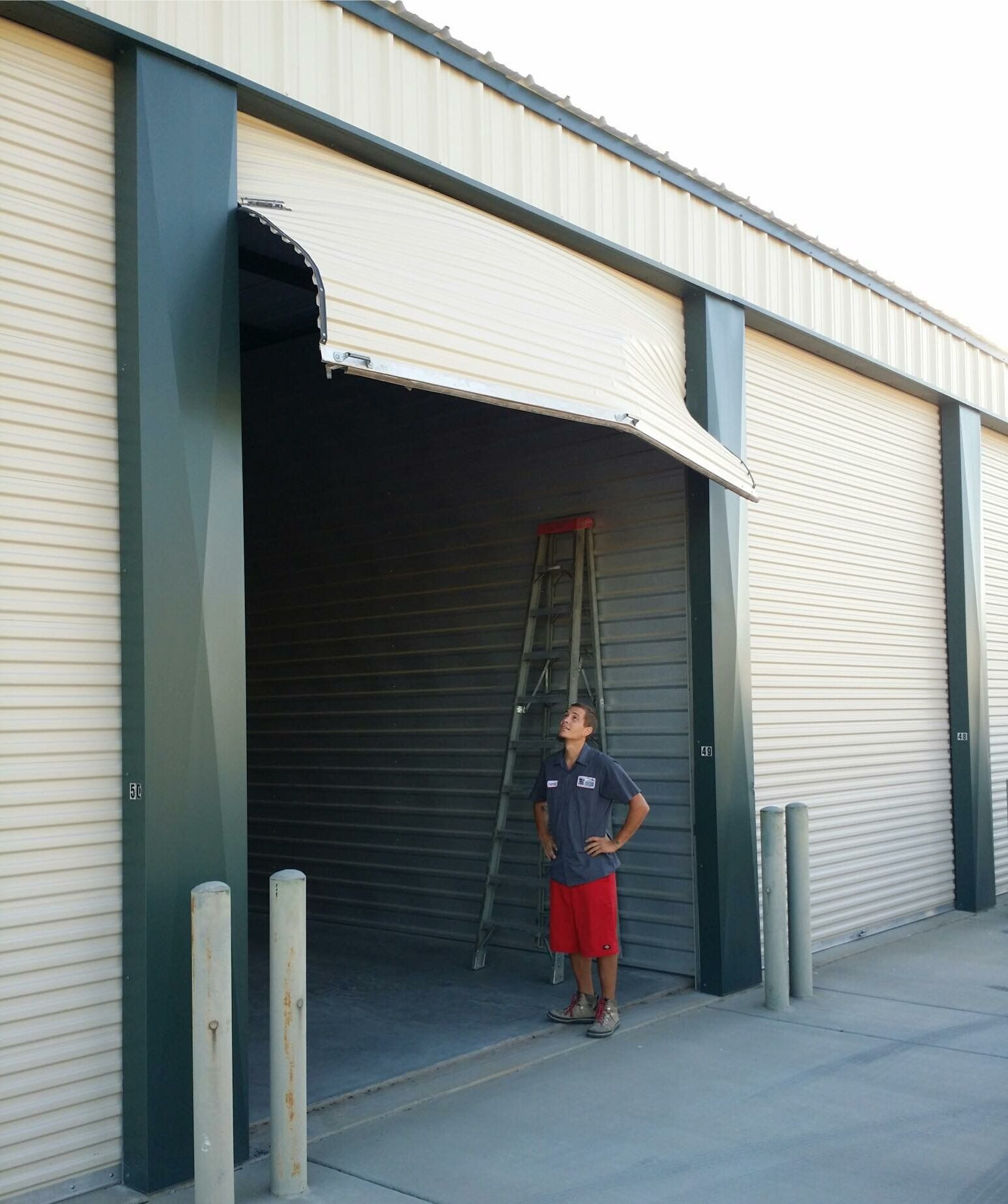 Garage Door Panels : Commercial door repair phoenix parker garage doors